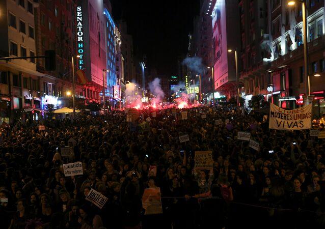 Manifestación de las mujeres en Madrid (Archivo)