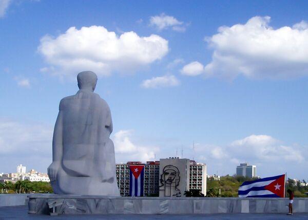 Monumento al el escritor José Martí en la plaza de la Revolución, La Habana, Cuba. - Sputnik Mundo