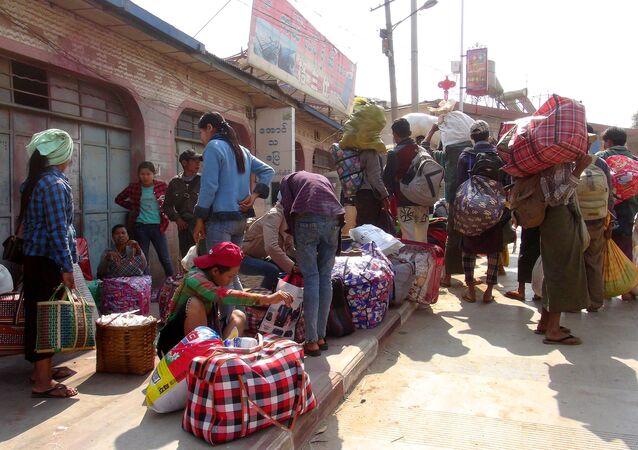 Los migrantes de Birmania