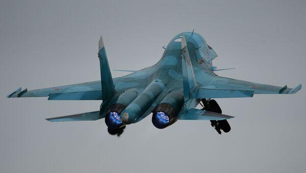 Cazabombardero ruso Su-34 - Sputnik Mundo