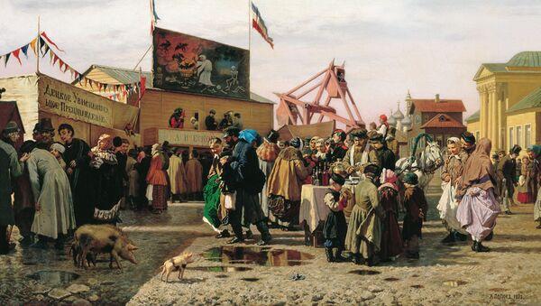 Semana Santa en Tula, cuadro del pintor Alexandr Popov, 1873 - Sputnik Mundo