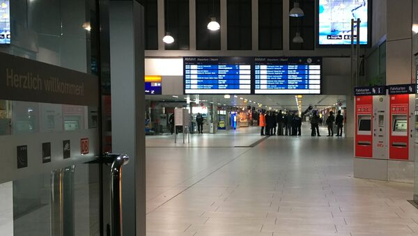 La estación de trenes en Düsseldorf - Sputnik Mundo