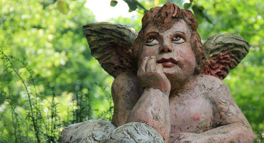 Un ángel pensativo (ilustración)