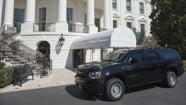 Los agentes de seguridad cerca de la Casa Blanca - Sputnik Mundo