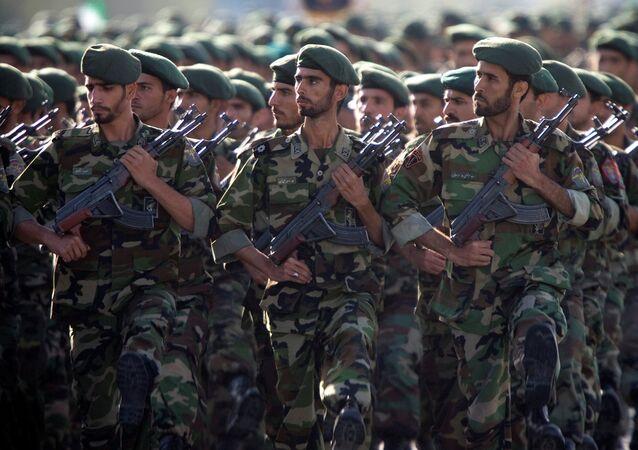 Los cuerpos de la Guardia Revolucionaria Islámica de Irán