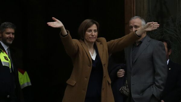 The president of the Catalonia region's parliament, Carme Forcadell - Sputnik Mundo