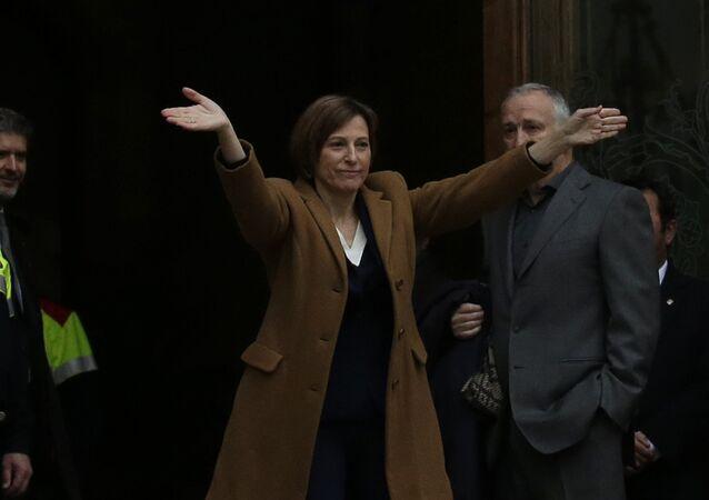 La expresidenta del Parlamento catalán, Carme Forcadell (archivo)
