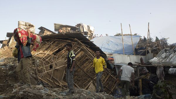 Las consecuencias de la avalancha en un basurero de Etiopía - Sputnik Mundo