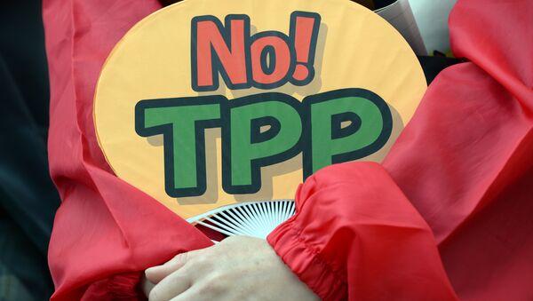 Demostración contra el TPP (archivo) - Sputnik Mundo