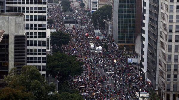 Huelga en Brasil (archivo) - Sputnik Mundo