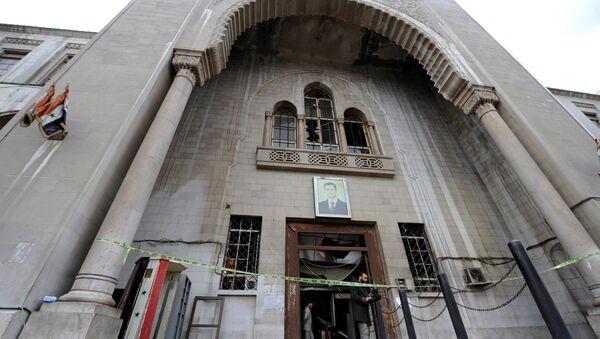 Palacio de Justicia en Damasco tras el atentado - Sputnik Mundo