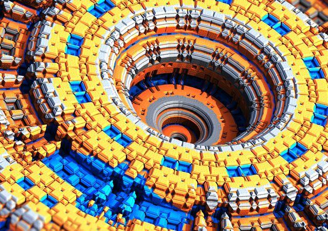 Un reloj atómico (ilustración)