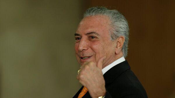 Presidente de Brasil,  Michel Temer - Sputnik Mundo