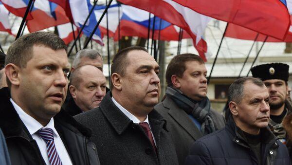 Los líderes de RPD y RPL visitan Crimea (archivo) - Sputnik Mundo