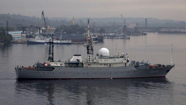 Buque ruso Viktor Leonov (archivo) - Sputnik Mundo