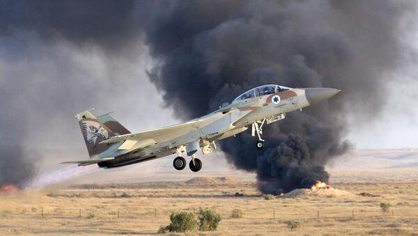 Un caza israelí F-15 (archivo) - Sputnik Mundo