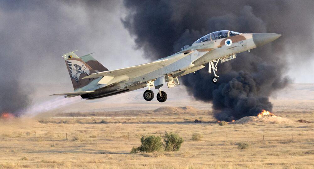 Un cazabombardero israelí F-15 (archivo)