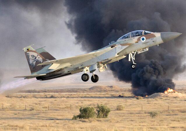 Un caza israelí F-15 (archivo)