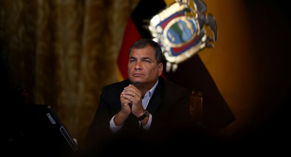 Rafael Correa, expresidente de Ecuador