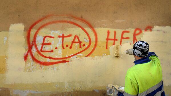 Un grafiti con la palabra ETA - Sputnik Mundo