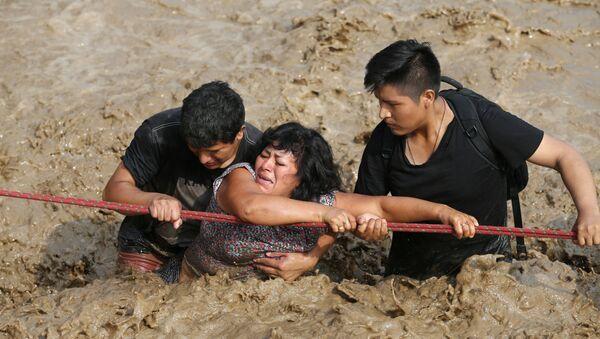 Inundaciones en Perú (archivo) - Sputnik Mundo