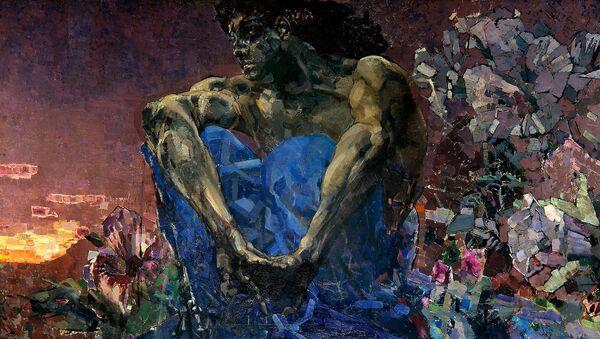 Demonio sentado en el jardín, Mijaíl Vrúbel - Sputnik Mundo