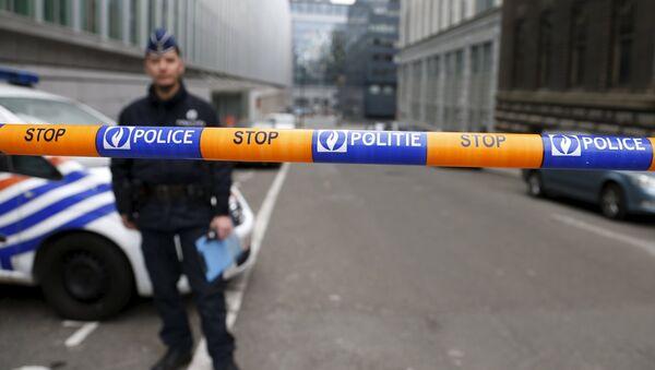 Policía en Bruselas (archivo) - Sputnik Mundo