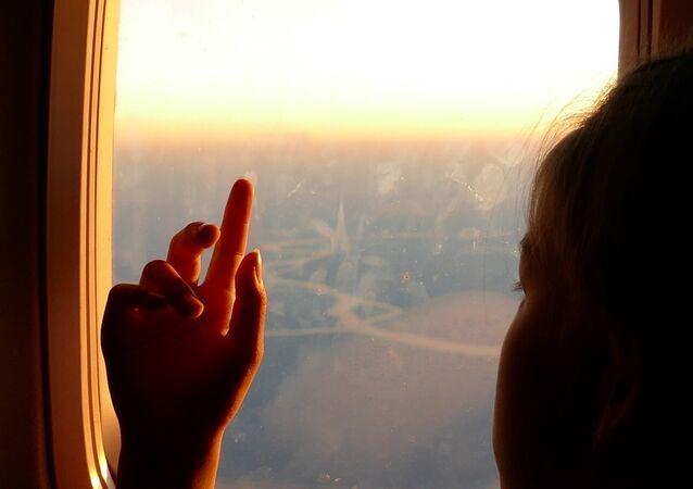 En un avión (archivo)
