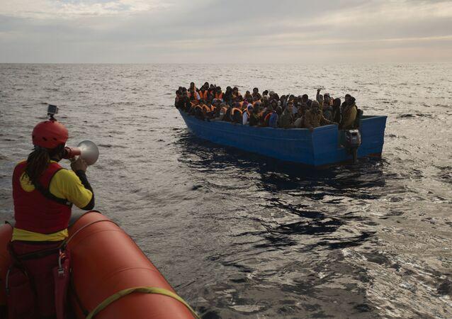 Refugiados en el mar Mediterráneo