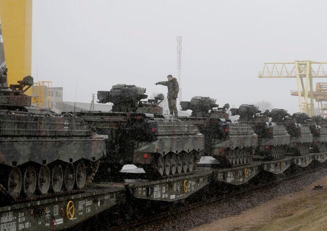 Vehículos de combate de infantería de la OTAN en Lituania (Archivo)