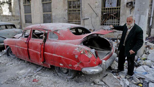 Los automóviles retro de Alepo - Sputnik Mundo