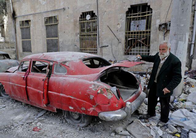 Los automóviles retro de Alepo