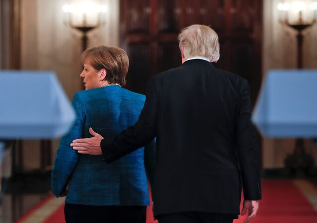 Donald Trump y Angela Merkel