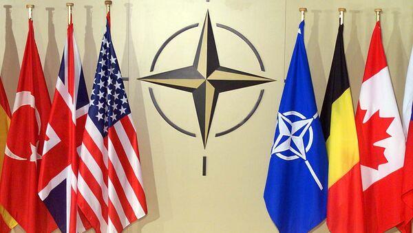 Las banderas de la OTAN (archivo) - Sputnik Mundo