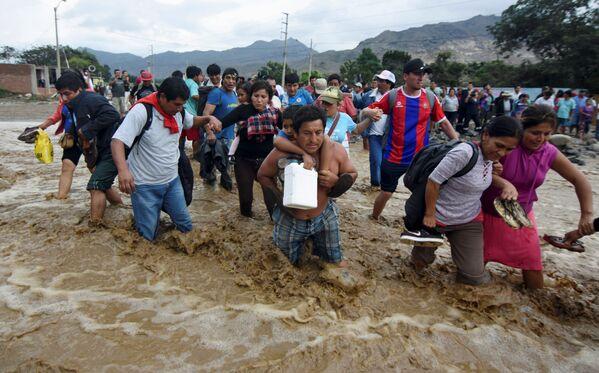 Las terribles consecuencias de las lluvias torrenciales en Perú - Sputnik Mundo