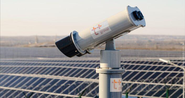 La planta de energía solar en Orsk.