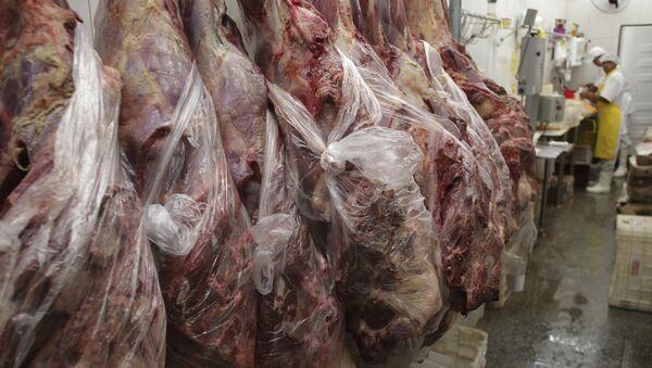 Una fábrica de carne en Brasil - Sputnik Mundo