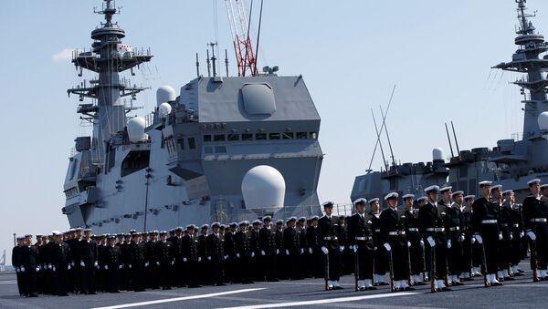 El portahelicópteros más grande de Japón - Sputnik Mundo