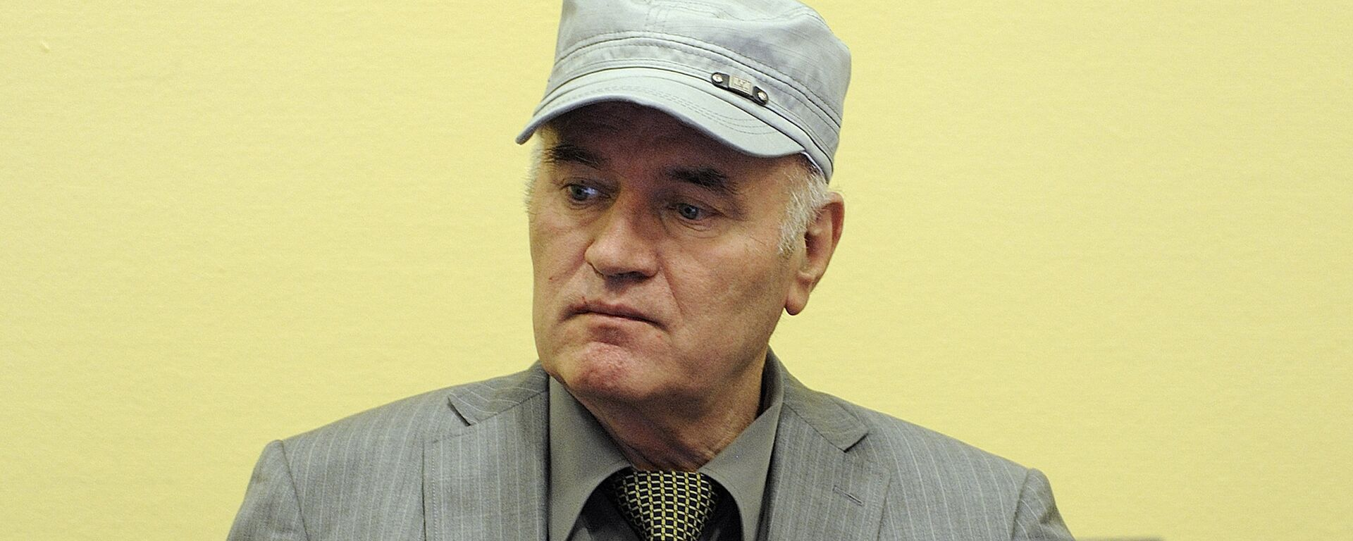 Wartime Bosnian Serb army chief Ratko Mladic sits in the court during his initial appearance at UN war crimes tribunal in The Hague - Sputnik Mundo, 1920, 26.08.2020