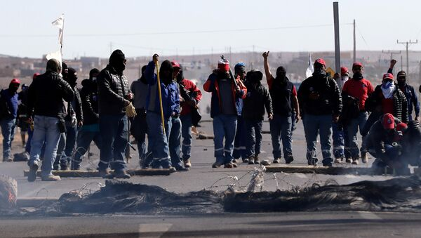 Huelga de trabajadores de BHP Billiton en Chile - Sputnik Mundo