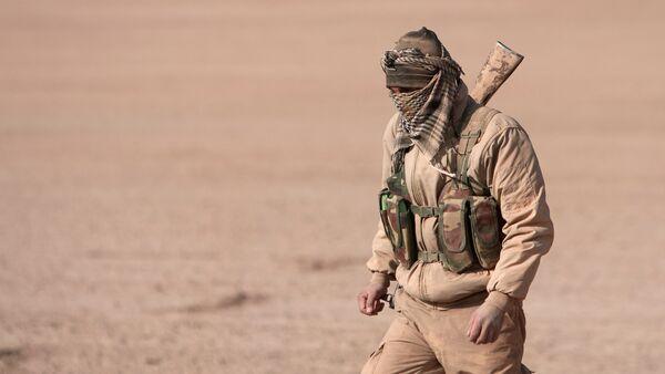 Un combatiente de las Fuerzas Democráticas de Siria (archivo) - Sputnik Mundo