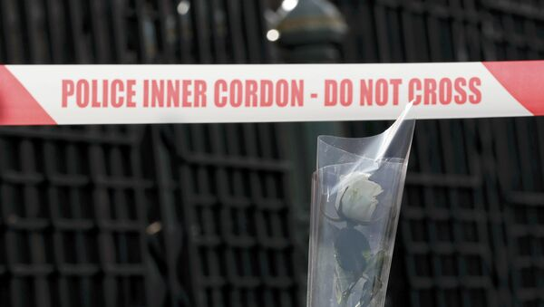 Lugar del atentado terrorista en Londres - Sputnik Mundo