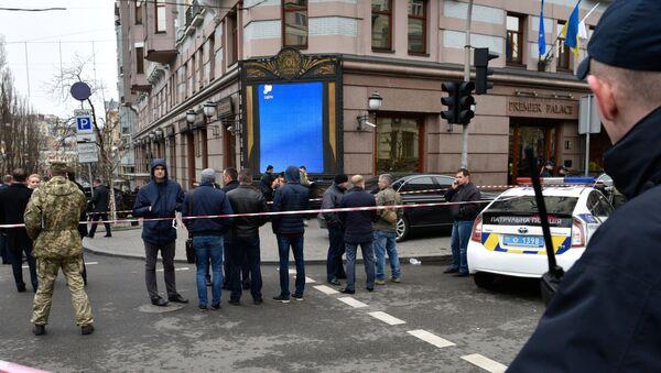 Lugar del asesinato del exdiputado ruso Denis Voronénkov - Sputnik Mundo