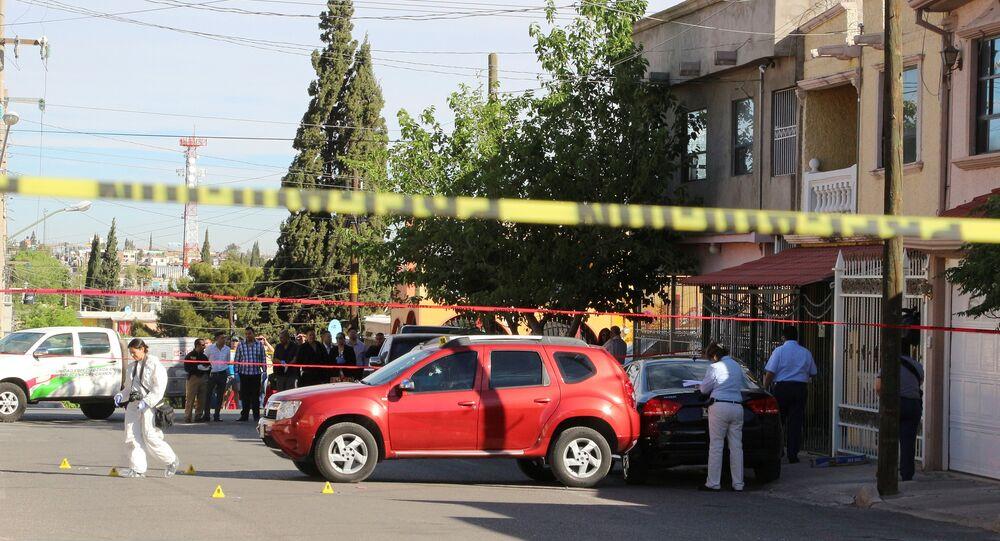 Lugar del asesinato de periodista