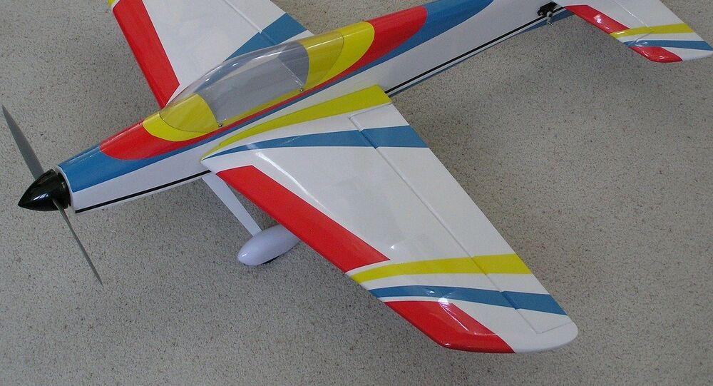 Un avión de juguete