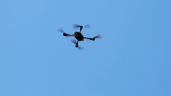 Un dron cuadrocóptero estadounidense (archivo) - Sputnik Mundo