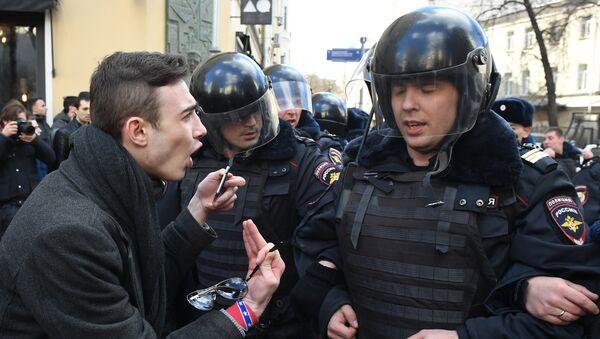 Manifestación en el centro de Moscú - Sputnik Mundo