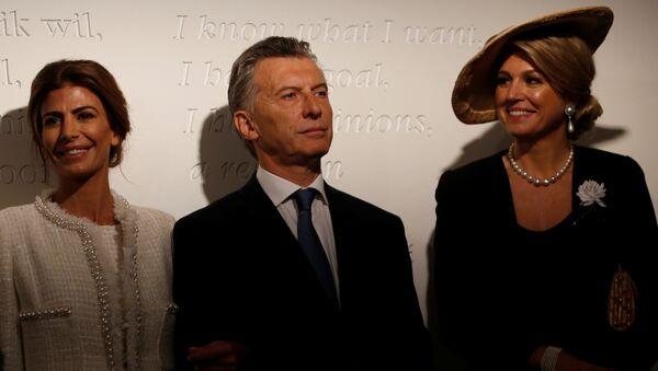 Juliana Awada, Mauricio Macri y reina Máxima - Sputnik Mundo