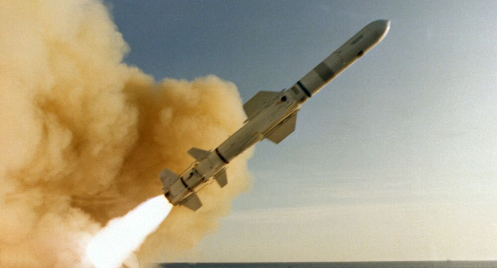 Misil antibuque estadounidense Harpoon (archivo)
