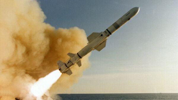 Misil antibuque estadounidense Harpoon (archivo) - Sputnik Mundo
